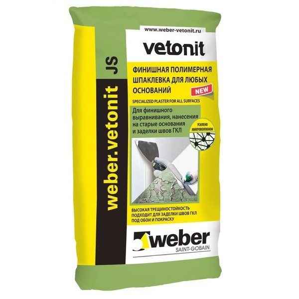 Шпатлевка финишная полимерная Weber.Vetonit JS 20 кг