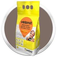 Затирка влагостойкая Weber.Vetonit Decor темный шоколад 2 кг