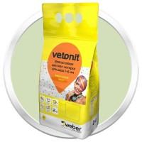 Затирка влагостойкая Weber.Vetonit Decor зеленый чай 2 кг
